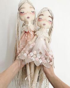 Velvet Rainbows Handmade Cloth Doll