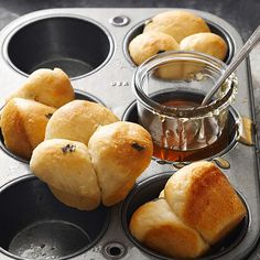 Warm and fluffy buttermilk rolls round out any home-cooked meal, especially when laced with a hint of earthy sage: http://www.bhg.com/recipes/trends/muffin-tin-recipes/?socsrc=bhgpin083014buttermilksagedinnerrolls&page=10