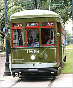 Charles streetcar in New Orleans; you can board it just a few blocks from the French Quarter and ride it to the beautiful Garden District New Orleans Decor, New Orleans Homes, Green Street, French Colonial, How To Speak French, French Language, Beautiful Gardens, Travel Inspiration, The Neighbourhood