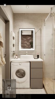 wayfair bathroom is definitely important for your home. Whether you choose the small bathroom storage ideas or upstairs bathroom remodel, you will create the best dyi bathroom remodel for your own life. Small Bathroom, Modern Bathroom, Laundry Room Bathroom, Bathrooms Remodel, Bathroom Makeover, Bathroom Design Small, Laundry In Bathroom, Bathroom Decor Luxury, Bathroom Renovations