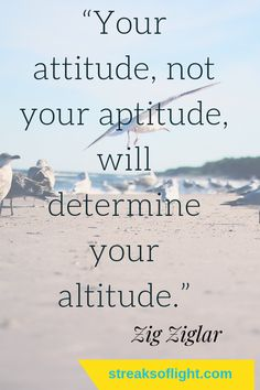 attitude determines altitude. Have a positive attitude and you set your life up for success. #positiveattitude #quotes #Zigziglar