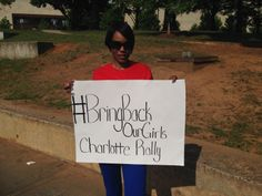 Charlotte helps #BringBackOurGirls