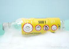 Play with your family photos - Bottle Submarine via Mr P blog