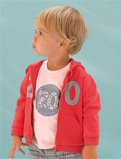 T-shirt manches courtes bébé à motif ROSE POUDRE - vertbaudet enfant