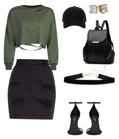 """Edgy look/plus size"" by stylebydaj on Polyvore featuring WithChic, Yves Saint Laurent and rag & bone"