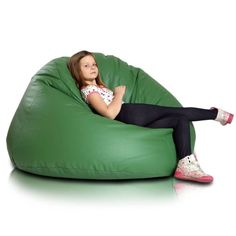 Relax XL babzsákfotel - zöld Bean Bag Chair, Shawl Collar Cardigan, Relax, Furniture, Big, Home Decor, Decoration Home, Room Decor, Beanbag Chair