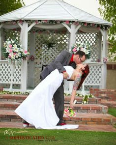Peoria Pines - Peoria, AZ wedding venue - Two-story clubhouse features a 2nd-floor banquet room with a full-service bar that accommodates large groups up to 160 people. Gorgeous views from panoramic picture windows. The gazebo is situated just steps from a large lake.