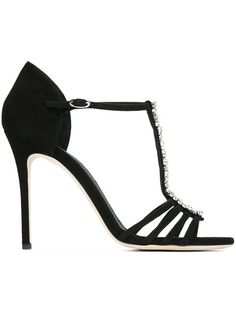 Shop Giuseppe Zanotti Design embellished sandals in Stefania Mode from the…