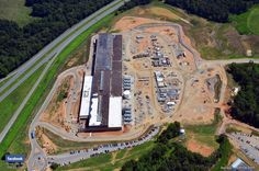 From the outside, Facebook's data centers look like massive warehouses. Here's an aerial view of the 300,000-square-foot North Carolina location: