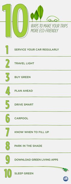 10 tips for more eco-friendly road trips! #ecofriendly #green #roadtrip