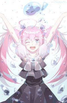 Rimuru & Milim [That Time I Got Reincarnated as a Slime] C Anime, Chica Anime Manga, Kawaii Anime Girl, Anime Art Girl, Schwertkunst Online, Slime Wallpaper, The Ancient Magus Bride, Estilo Anime, Awesome Anime