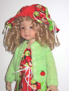 "Apple Dumpling Outfit for Diane Effner Little Darling / 12"" Heidi Plusczok Doll. $75.00, via Etsy."