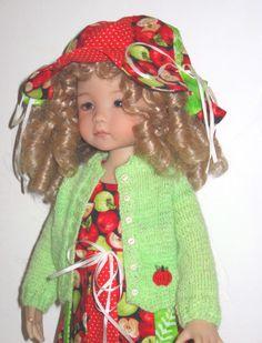 "Apple Dumpling Outfit for Diane Effner Little Darling / 12"" Heidi Plusczok Doll. $75.00, via Etsy."