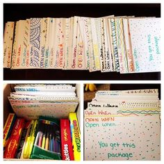 """Write """"Open When"""" letters for your significant other. Bf Gifts, Diy Gifts For Boyfriend, Best Friend Gifts, Cute Gifts, Gifts For Friends, Cute Birthday Gift, Bff Birthday, Open When Letters For Boyfriend, Open When Cards"""