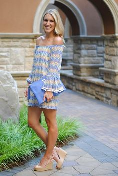 Love chevron and off the shoulder