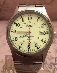 ••• This is a great watch with its Luminous Dial •••. Face - Luminous. Body / Bezel - Stainless Steel. • Time.   eBay!