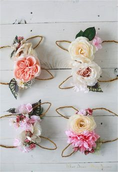Bunny floral crowns #DIY