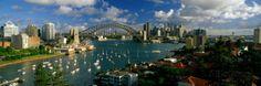 �I�[���|�X�^�[�Y�� �p�m���~�b�N�E�C���[�W�iPanoramic Images�j�uHarbor and City and Bridge, Sydney, Australia�v�ʐ^�v�����g