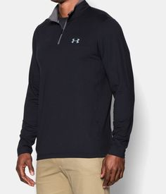 Men's UA ColdGear® Infrared Lightweight ¼ Zip, Black