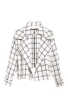Plaid Linen Double Mini Trench by Kaelen. Cute overload.