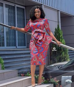 "The best ankara dress styles are absolutely top notch.African fashion with its ankara styles and lace styles popularly known as as ""asoebi"" are here to stay. Latest Ankara Short Gown, Ankara Short Gown Styles, Trendy Ankara Styles, Latest African Fashion Dresses, Short Gowns, Ankara Gowns, African Print Dresses, African Print Fashion, African Dress"