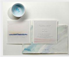 Watercolors #paper #invitations #invites