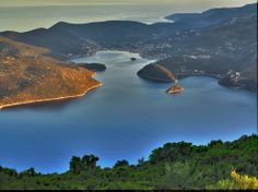 view of vathy, ithaca, Greece