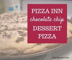 Here's an identical Pizza Inn chocolate chip pizza recipe. this a perfect potluck dessert to take because it's such an easy recipe to prepare!