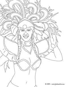 Coloriage Carnaval Bresilien.Les 51 Meilleures Images De Carnaval De Rio En 2016