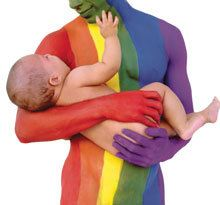This photo really speaks to me. It is so important to remember that same-sex couples can love a child in the same way that a heterosexual couple can.