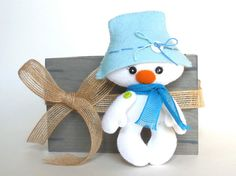 Snowman Christmas PDF Ornament van LittleThingsToShare op Etsy