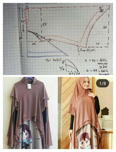 Best 12 khidmat jumno - Her Crochet Hijab A Enfiler, Kebaya Hijab, Hijab Stile, Hijab Dress, Abaya Fashion, Muslim Fashion, Fashion Outfits, Dress Sewing Patterns, Clothing Patterns