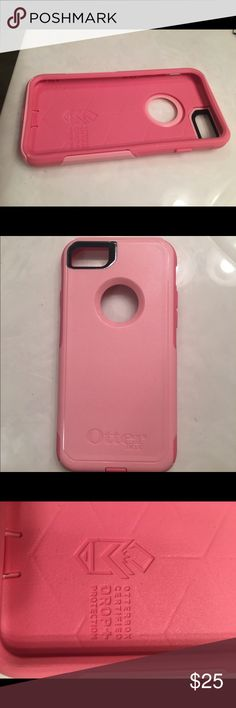Pink Otter Box for iPhone 6 📱 Super cute two toned (bright and light) pink otter box! Never been used, it was given to me in the box as a gift and I took it out and threw the box away only to realize that it didn't fit my phone. OtterBox Accessories Phone Cases