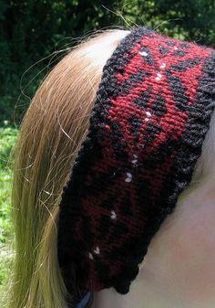 (6) Name: 'Knitting : Black Arrow Headband