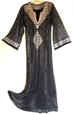 Spectacular Black Assuit belly dance costume dress galabaya abaya Besheer EGYPT | eBay