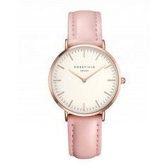 Tribeca Or Rose montre pour femme - bracelet en cuir rose   ROSEFIELD Watches