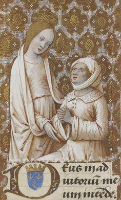 "(detail) Manuscript illuminator Jean Bourdichon and his atelier, ca. 1475-1500, ""Heures de Charles VIII"", France."