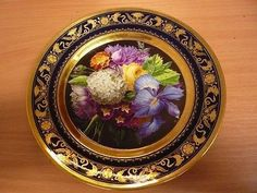 C DARTE Paris French Porcelain Botanical Cabinet Plate, 19th (10/31/2013)
