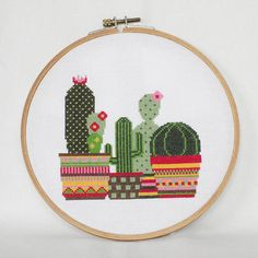 Your place to buy and sell all things handmade - Cacti Cross Stitch Pattern-cacti botanical plants flower Cactus Cross Stitch, Cross Stitch Rose, Cross Stitch Flowers, Cross Stitching, Cross Stitch Embroidery, Embroidery Patterns, Modern Cross Stitch Patterns, Cross Stitch Designs, Etsy