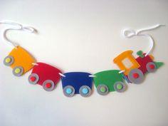 Choo Choo Train felt banner PDF pattern Train felt toy