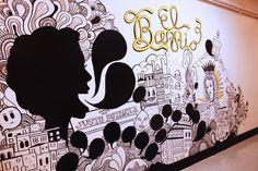 Interactive Mural Museo del Barrio by Miriam Castillo, via Behance   (coloring book or connect the dots)