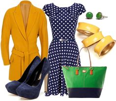 """""""Color Blocking with Mustard Yellow"""" by zhanette on Polyvore"""