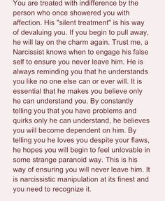 The Devaluing Narcissist Yep that's why it was always words and no actions