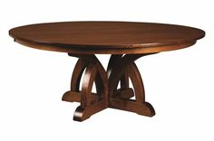Brooklyn Pedestal Table Dining Furniture Tables - Amish Furniture - We have over 100 Solid American cherry and Oak Amish furniture items. Our store is located in the heart of Amish Country. Find custom quality furniture at affordable prices. Round Pedestal Dining Table, Trestle Dining Tables, Solid Wood Dining Table, Modern Dining Table, Amish Furniture, Dining Room Furniture, Dining Room Table, Thing 1, Furniture Styles