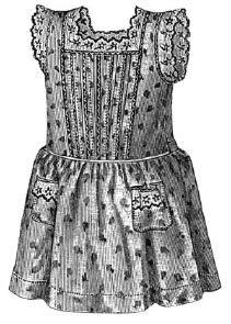1896 Girl's pinafore