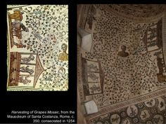 sv. Konstanca, Rim, 350. g. - mozaik berbe grožđa