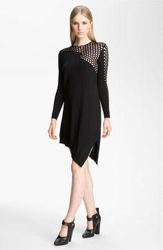 Alexander Wang Fishnet Asymmetrical Dress | #Nordstrom #falltrends