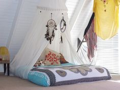 Love this bed on the floor