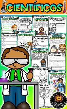 Científicos Science Resources, Science Lessons, Teaching Science, Learning Resources, Learning Spanish, Classroom Resources, Teaching Ideas, Teacher Tools, Teacher Pay Teachers