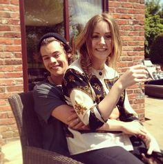 if you know whos on harry's lap then your true directioner.... cause i know who that is and she a BIGG part of harrys life